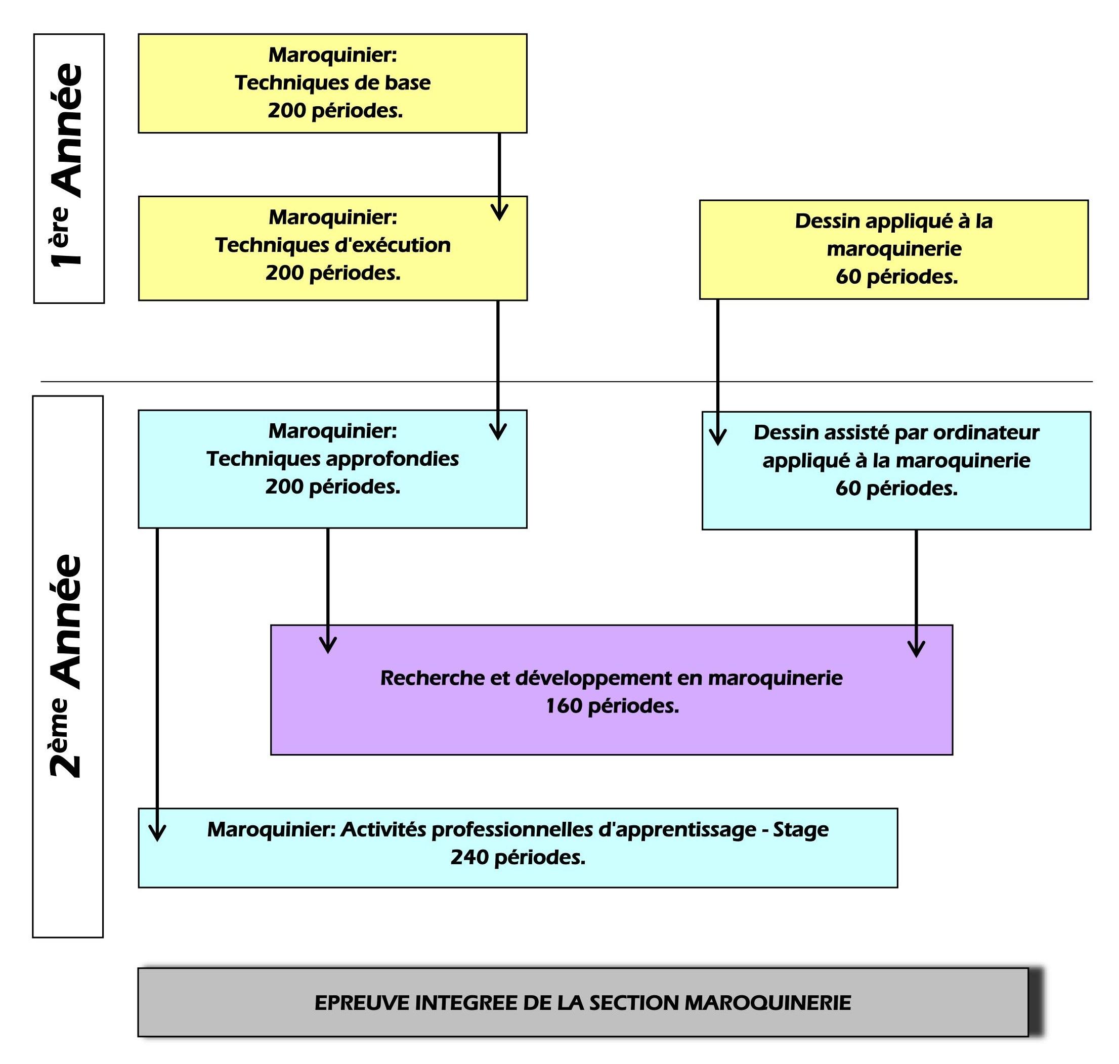 Maroquinerie – Organigramme de la section